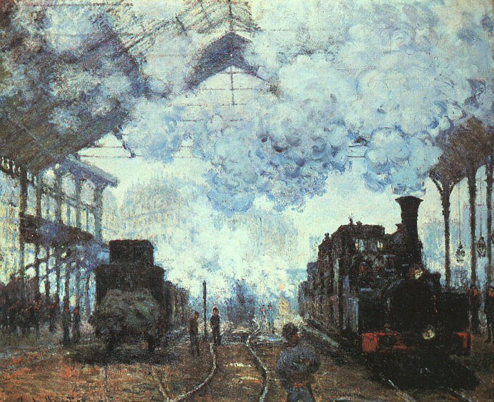 Claude Monet: Estación de Saint Lazare