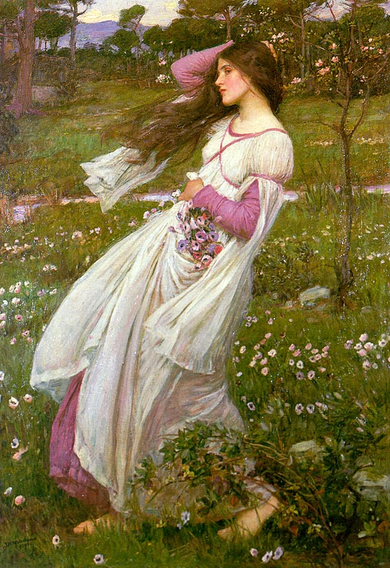 John William Waterhouse: Flores en el viento